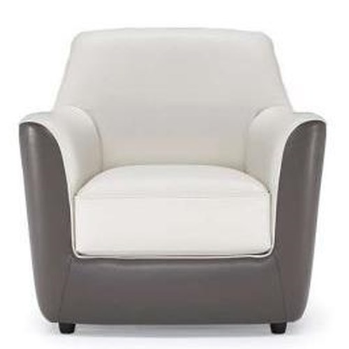 Natuzzi Editions B810 Contemporary Chair with Flaring Rolled Arms