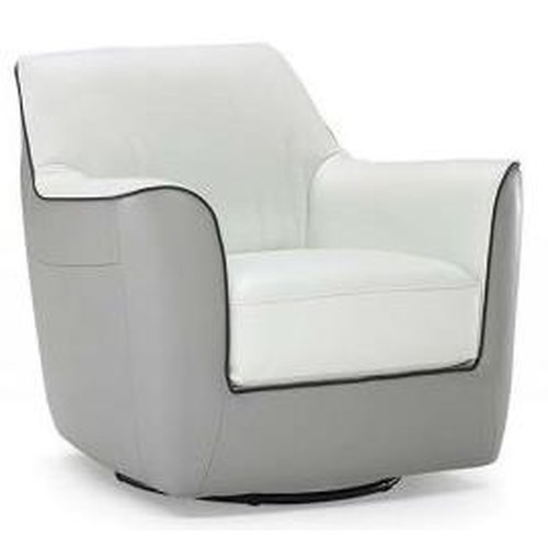 Natuzzi Editions B810 Contemporary Chair with Swivel Base
