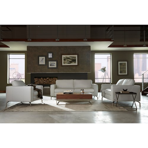 Natuzzi Editions B845 Stationary Living Room Group