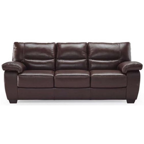 Natuzzi Editions B870 Casual Sofa with Bustle Back Cushions