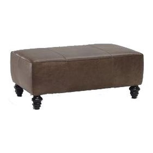 Natuzzi Editions B872 Rectangular Ottoman w/ Turned Feet