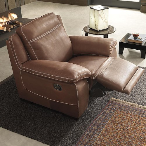 Natuzzi Editions B875 Casual Power Three Way Recliner