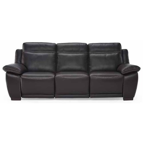 Natuzzi Editions B875 Casual Power Reclining Sofa with Block Feet