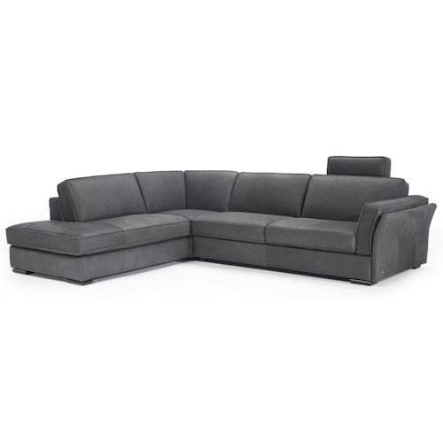 Natuzzi Editions B888 Left Arm Facing Sectional w/ Headrest