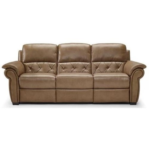 Natuzzi Editions B935 Casual Sofa with Wooden Block Feet and Pillow Arms