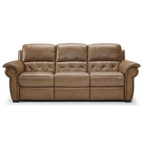 Natuzzi Editions B935 Casual Reclining Sofa with Tufted Sides and Back