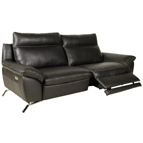 Natuzzi Editions B943 Contemporary Reclining Sofa with Pillow Arms