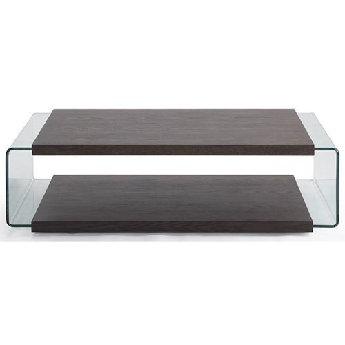 Natuzzi Editions Cisternino Rectangular Coffee Table with Glass Sides