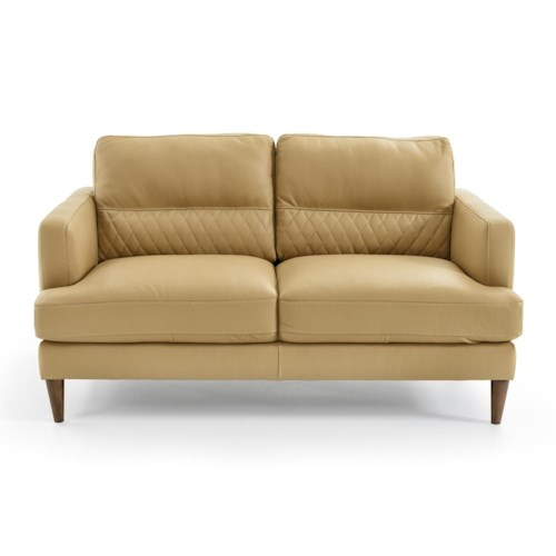 Natuzzi Editions Donatello Contemporary Loveseat with Track Arms