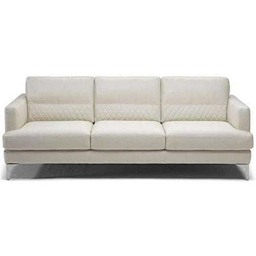 Natuzzi Editions Donatello Contemporary Sofa with Textured Lower Back