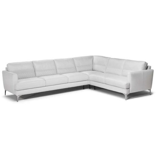 Natuzzi Editions Donatello Contemporary Sectional Sofa with Track Arms