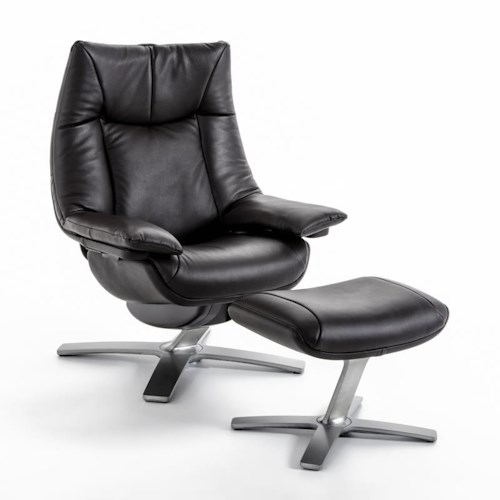 Natuzzi Re-vive 603 Model Contemporary Swivel Recliner