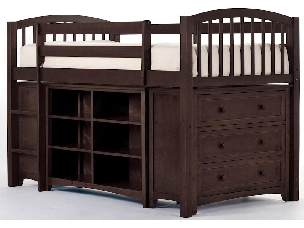 Shown with Junior Loft Bed, Vertical Shelf and Short Horizontal Shelf