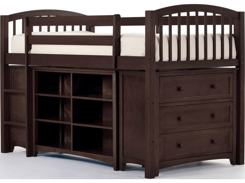 Shown with Junior Loft Bed, Three Drawer Chest and Horizontal Chest