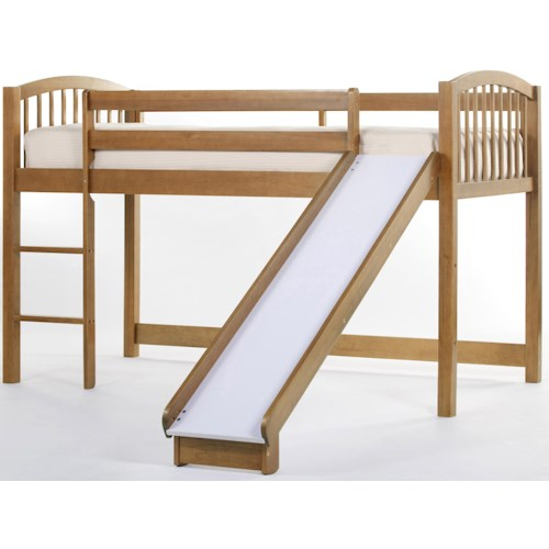 NE Kids School House Junior Loft Bed w/ Ladder and Slide