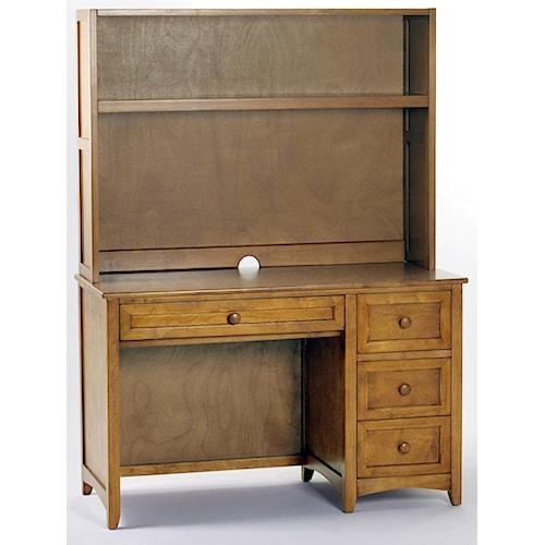 NE Kids School House Single Pedestal Desk w/ Hutch