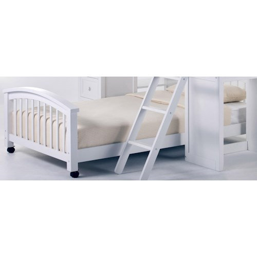 NE Kids School House Twin Lower Student Loft Bed w/ Casters