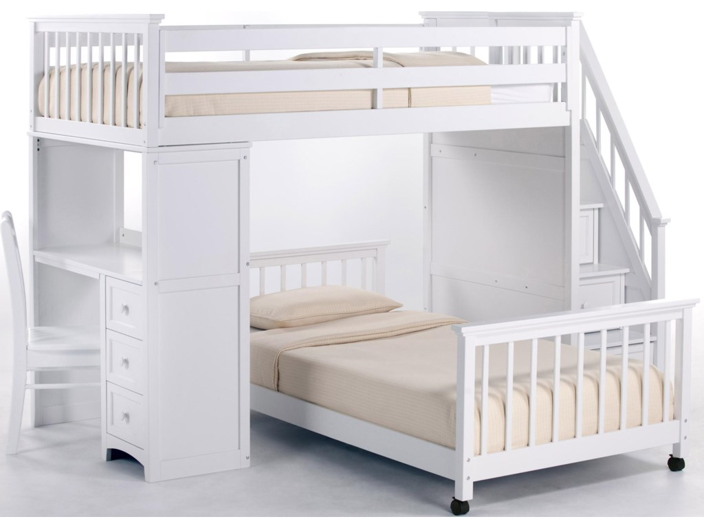 Shown with Stairs Loft Bed and Chair