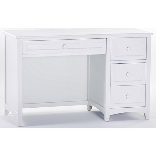 NE Kids School House Single Pedestal Desk w/ 3 Drawers