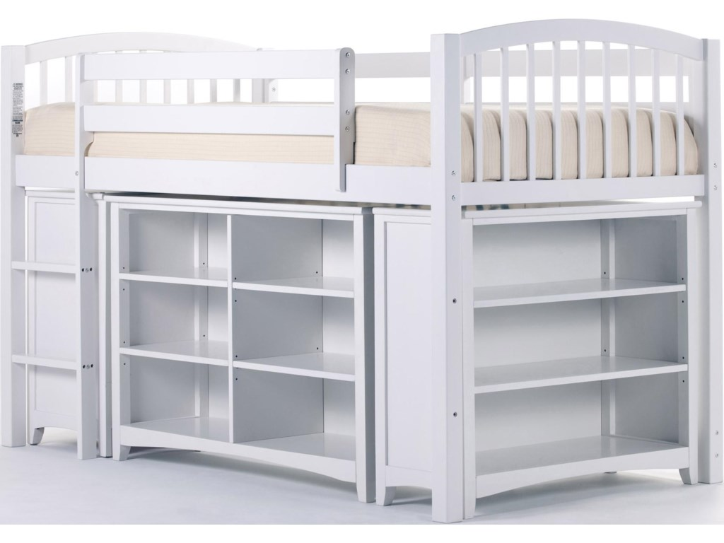 Shown with Junior Loft Bed with Horizontal Bookcase