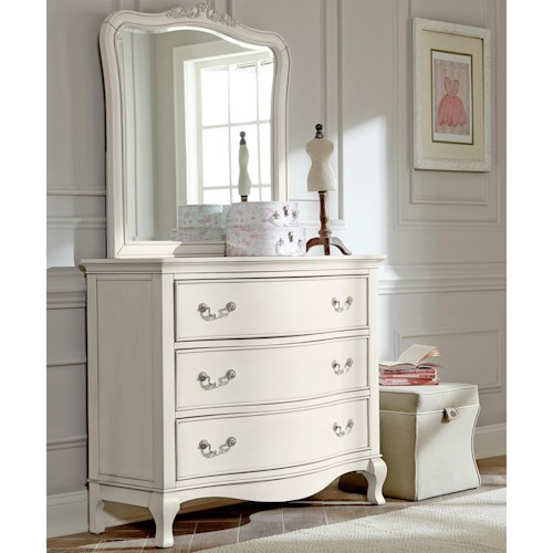 NE Kids Kensington Single Dresser and Mirror Set with 3 Drawers