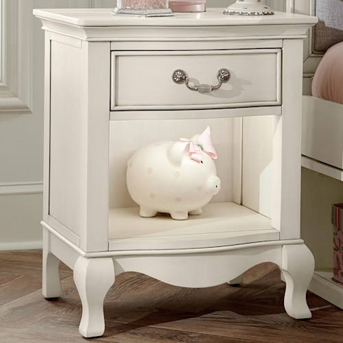 NE Kids Kensington Nightstand with Drawer and Lighting