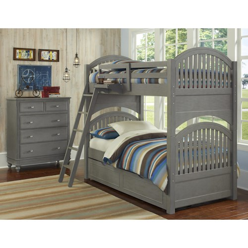 NE Kids Lake House Twin Trundle Bunk Bed Group