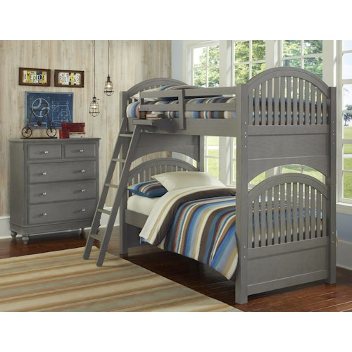 NE Kids Lake House Twin Standard Bunk Bed Group