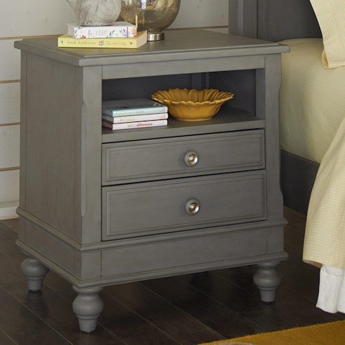 NE Kids Lake House 2 Drawer Nightstand with Open Shelf