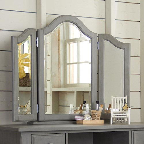 NE Kids Lake House Kids Vanity Jewelry Mirror with Medicine Cabinet