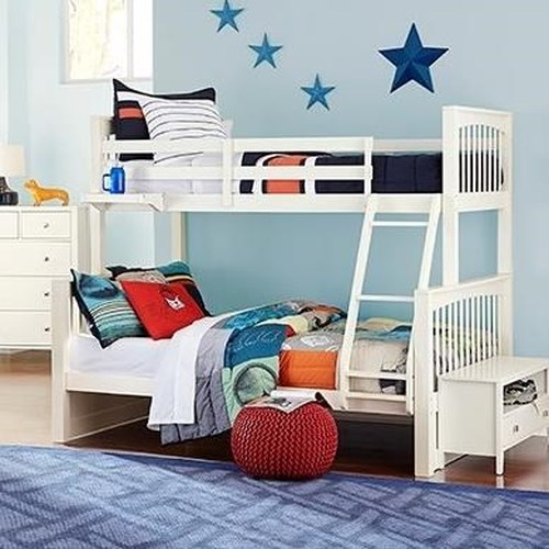NE Kids Pulse Mission Style Twin Over Full Bunk Bed