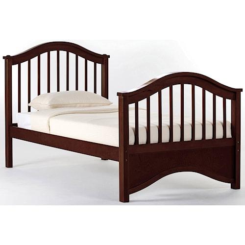 NE Kids School House Twin Jordan Child's Bed w/ Arched Headboard and Footboard
