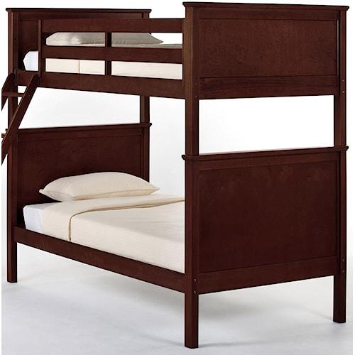 NE Kids School House Casey Twin over Twin Panel Bunk Bed