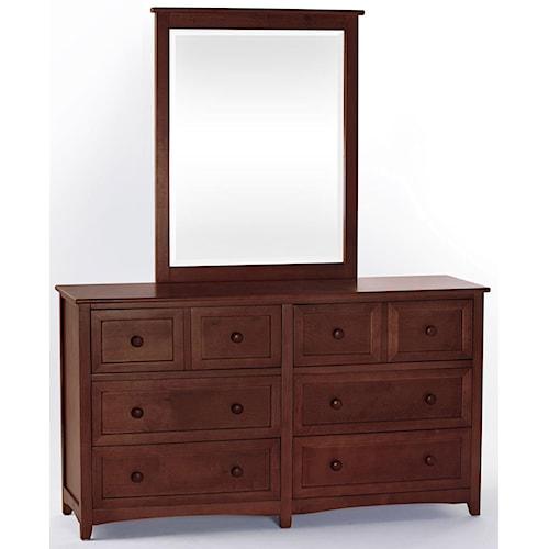 NE Kids School House Drawer Dresser w/ Mirror