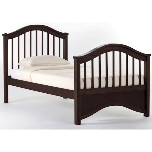 NE Kids School House Twin Jordan Child's Bed w/ Arched Headboard and Footboard