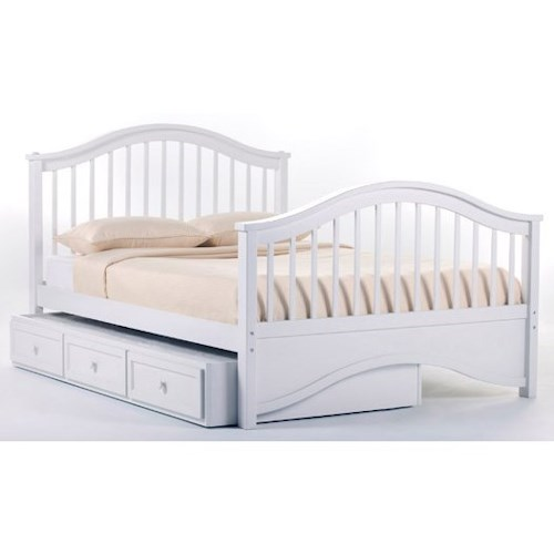 NE Kids School House Full Jordan Child's Bed with Trundle