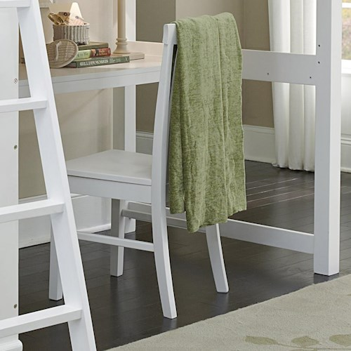 NE Kids Walnut Street Chair with Slatted Back and Wood Seat