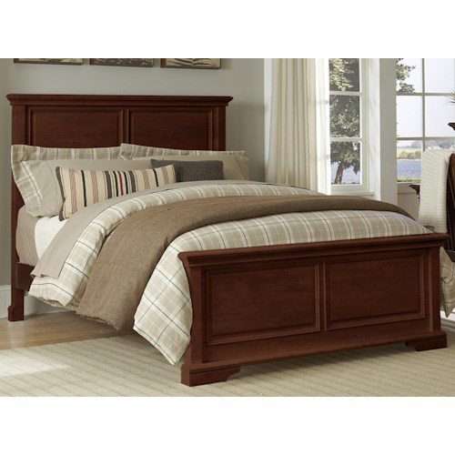 NE Kids Walnut Street Full Devon Panel Bed with Traditional Molding and Edges