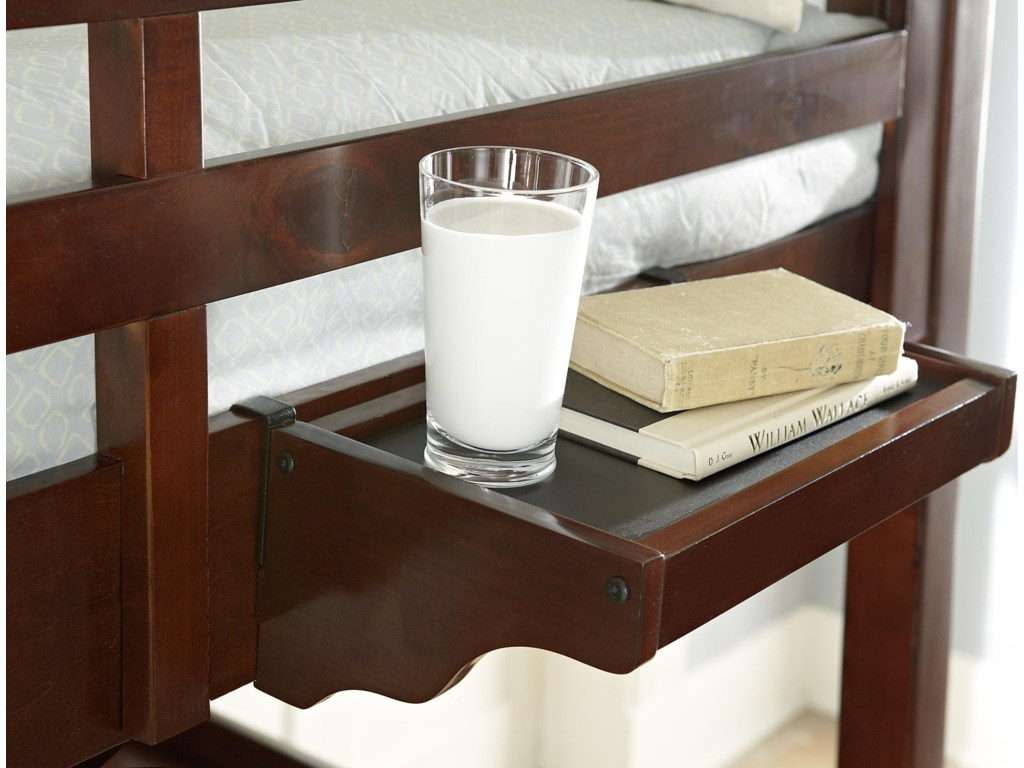Hanging Nightstand with Coated Top Surface