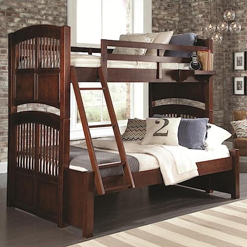 NE Kids Walnut Street Twin Over Full Hayden Bunk Bed