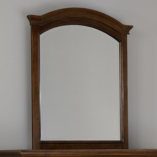 NE Kids Walnut Street Mirror with Arched Frame and Molding Detail