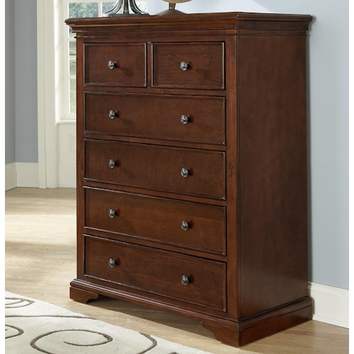 NE Kids Walnut Street 6 Drawer Chest with Iron Drawer Pulls