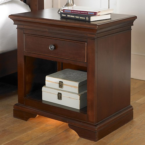 NE Kids Walnut Street Nightstand with Built-in Nightlight