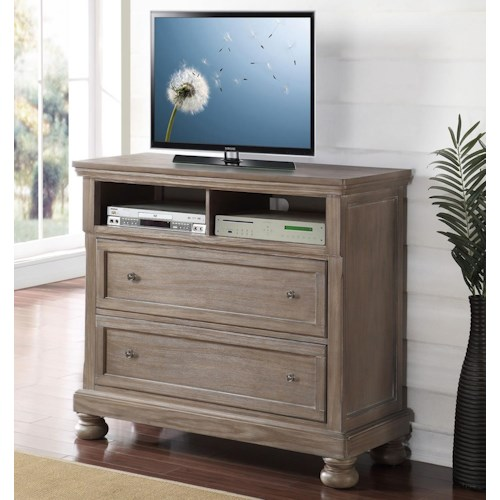 New Classic Allegra 2 Drawer Media Chest Console