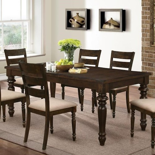 New Classic Annandale Rectangular Dining Table with Turned Legs