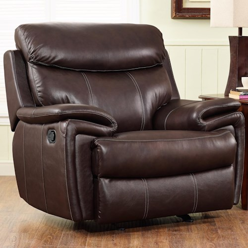 New Classic Aria Casual Glider Recliner with Pillow Arms