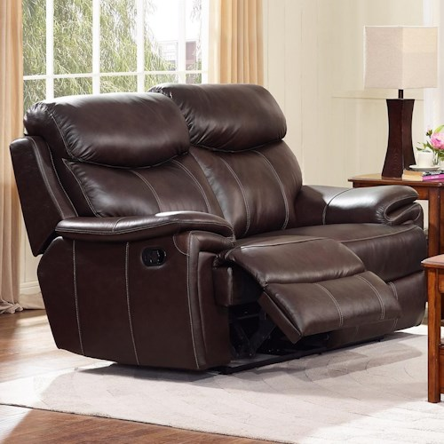 New Classic Aria Casual Power Reclining Loveseat with Full Chaise Seat Cushions