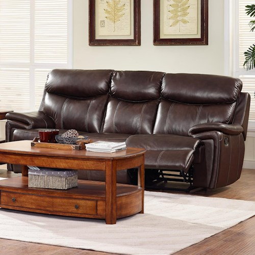 New Classic Aria Casual Dual Recliner Power Sofa with Pillow Arms