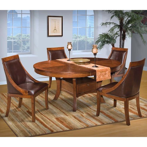 New Classic Aspen Round Dining Table Set w/ Base