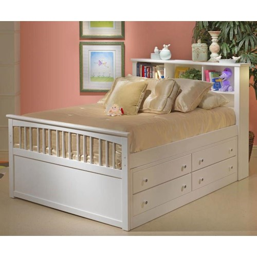 New Classic Bayfront Full Single-Sided Storage Captain's Bed